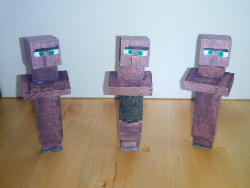 Wooden villagers
