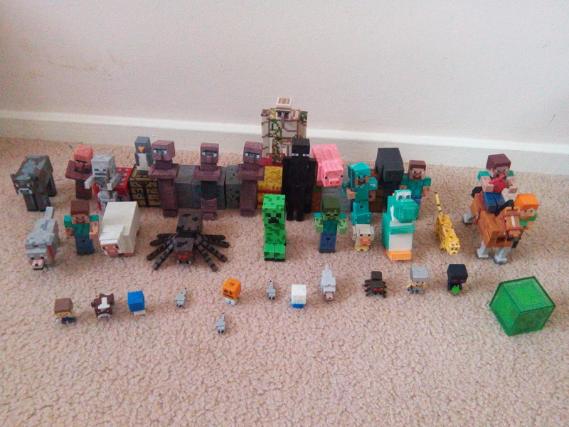 All my Miecraft figures together